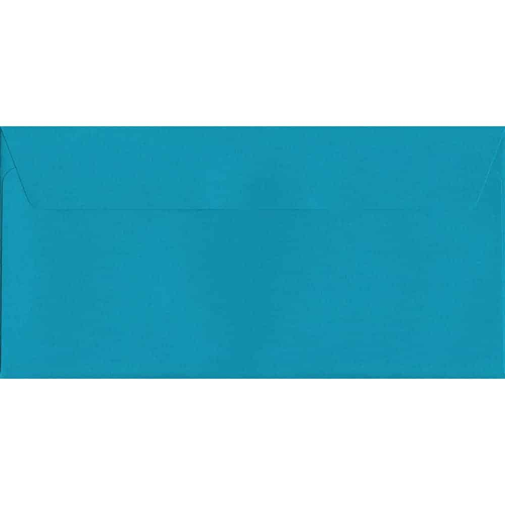 Caribbean Blue Peel/Seal DL 114mm x 229mm 120gsm Luxury Coloured Envelope