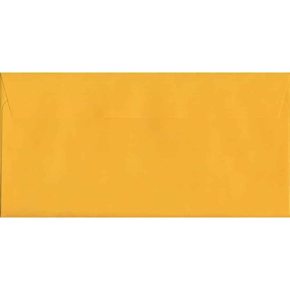 Golden Yellow Peel/Seal DL 114mm x 229mm 120gsm Luxury Coloured Envelope