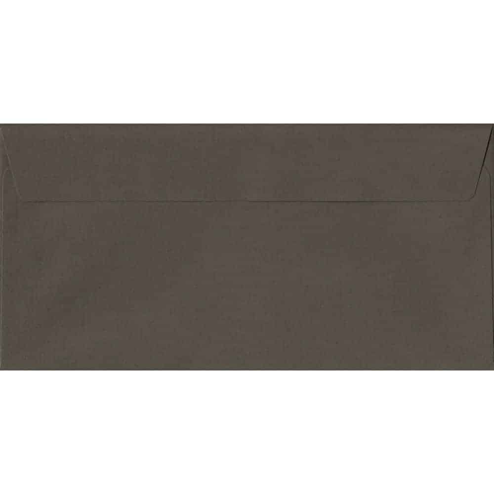 Graphite Grey 114mm x 229mm 120gsm Peel/Seal DL/Tri-Fold A4 Sized Envelope