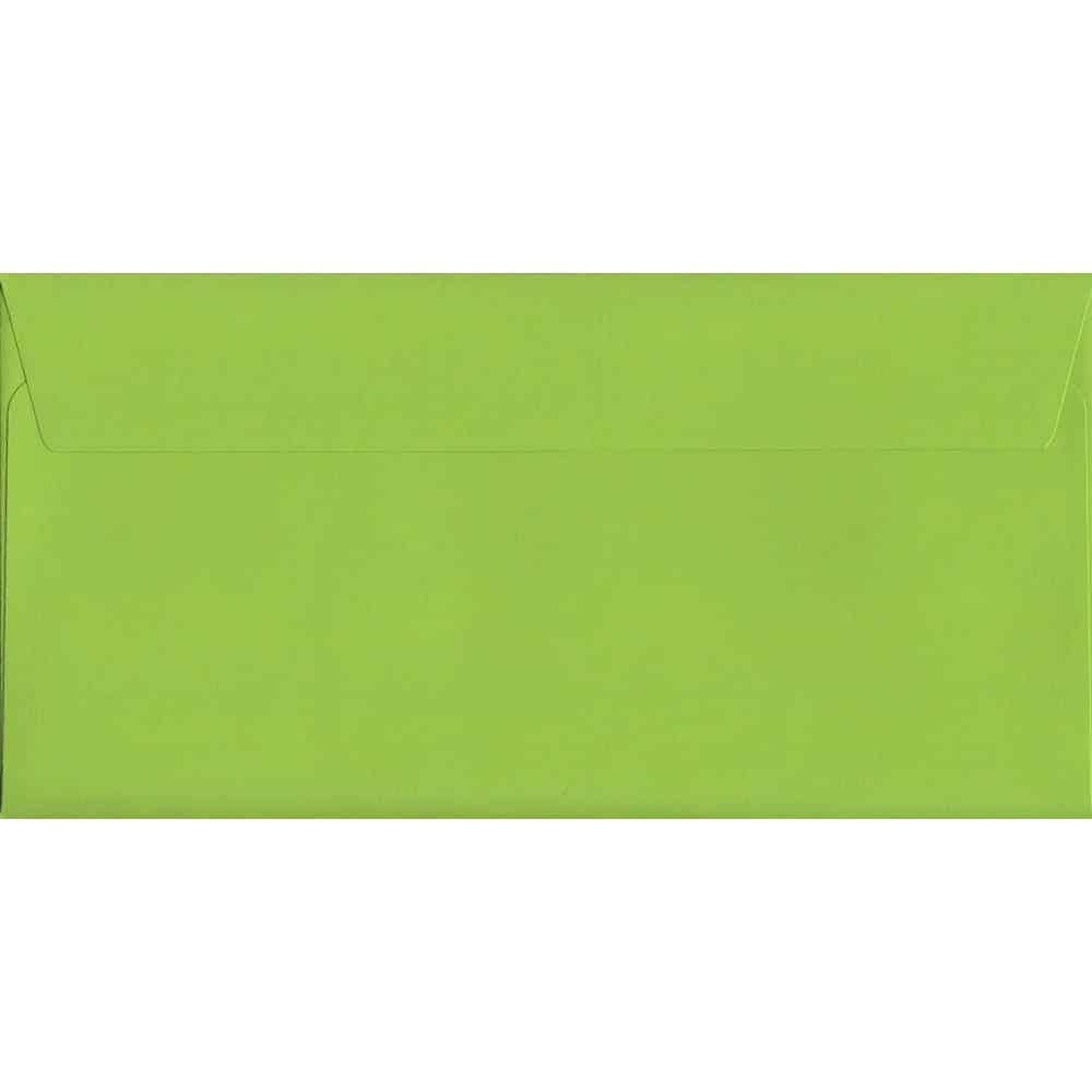 Lime Green Peel/Seal DL 114mm x 229mm 120gsm Luxury Coloured Envelope
