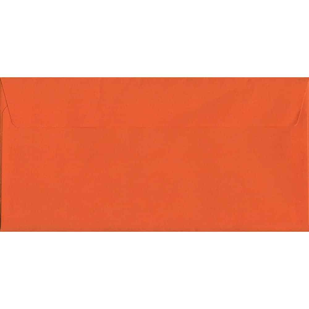 Sunset Orange Peel/Seal DL 114mm x 229mm 120gsm Luxury Coloured Envelope