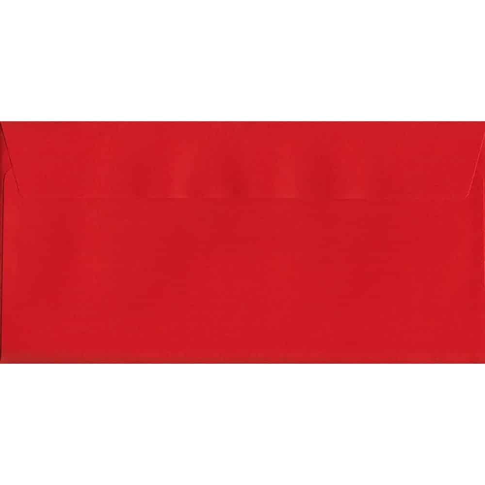 Pillar Box Red Peel/Seal DL 114mm x 229mm 120gsm Luxury Coloured Envelope