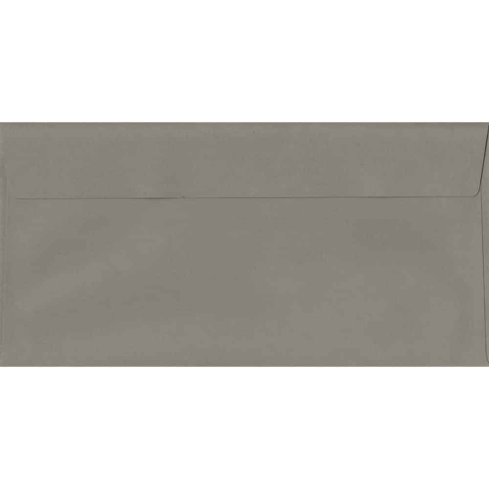Storm Grey 114mm x 229mm 120gsm Peel/Seal DL/Tri-Fold A4 Sized Envelope