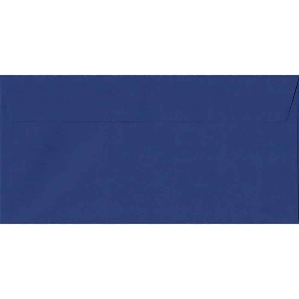 Victory Blue 114mm x 229mm 120gsm Peel/Seal DL/Tri-Fold A4 Sized Envelope