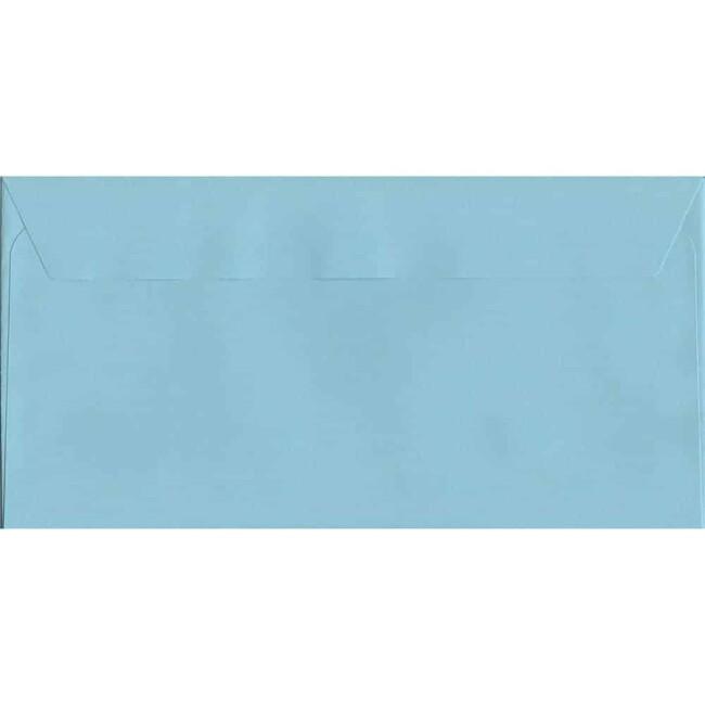 Cotton Blue Peel/Seal DL 114mm x 229mm 120gsm Luxury Coloured Envelope