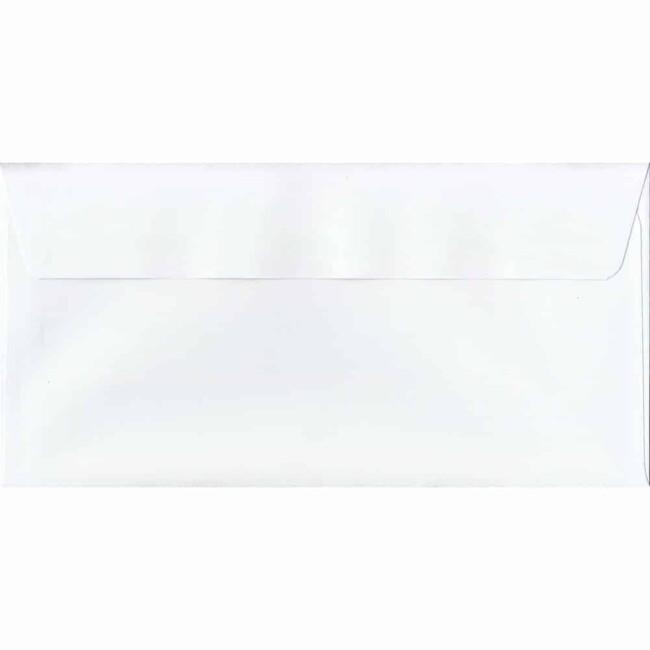 White 114mm x 229mm 120gsm Peel/Seal DL/Tri-Fold A4 Sized Envelope