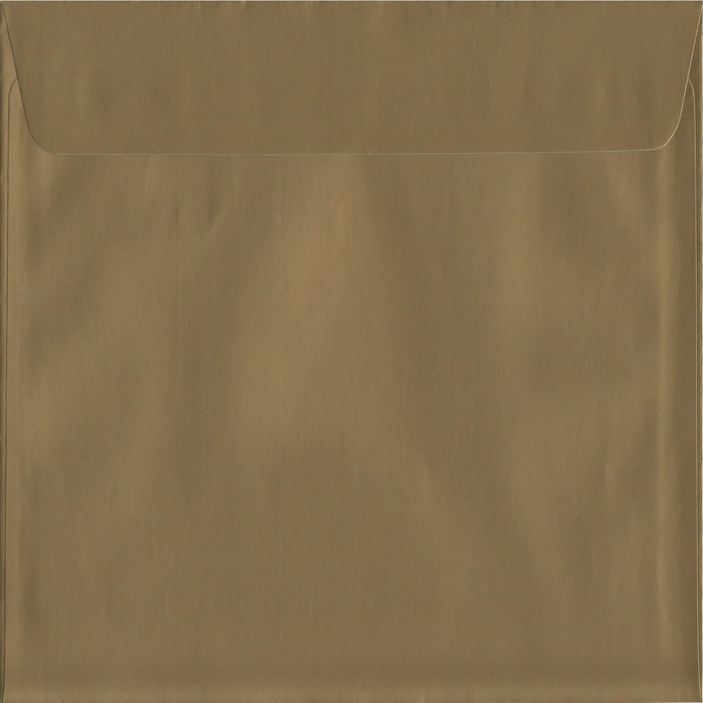 Metallic Gold Peel/Seal S2 220mm x 220mm 130gsm Luxury Coloured Envelope