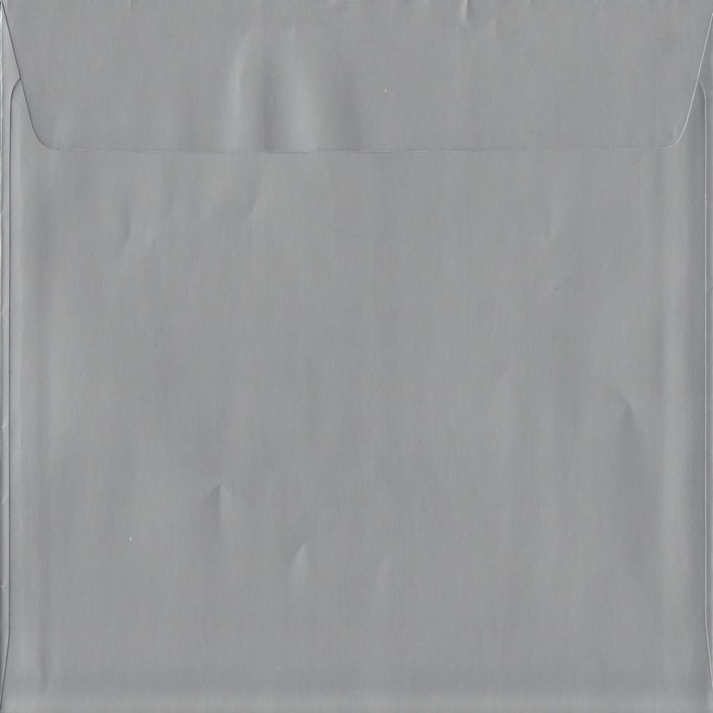 Metallic Silver Peel/Seal S2 220mm x 220mm 130gsm Luxury Coloured Envelope