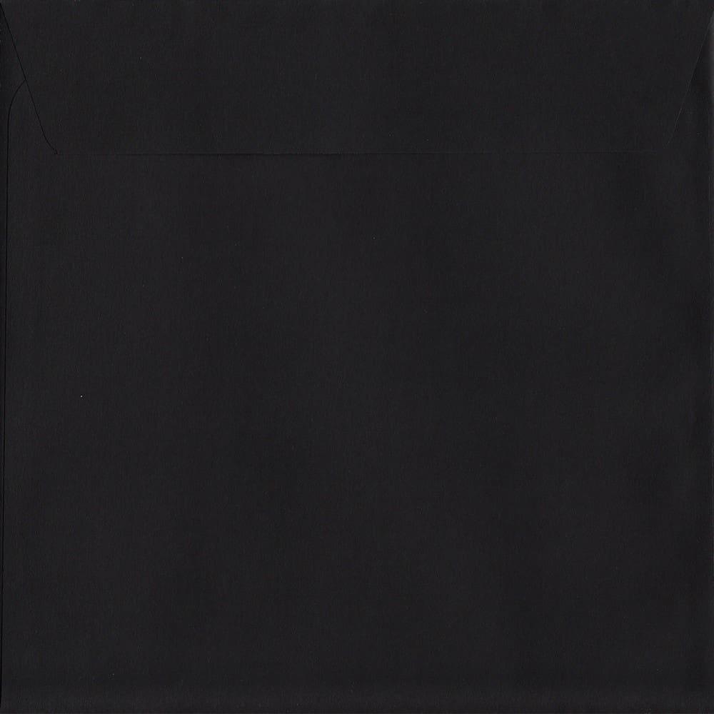 Black Peel/Seal S3 160mm x 160mm 120gsm Luxury Coloured Envelope