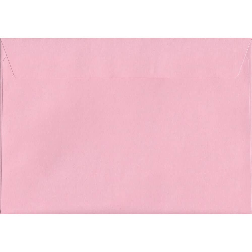 50 A4 Pink Envelopes. Baby Pink. 229mm x 324mm. 120gsm paper. Peel/Seal Flap.