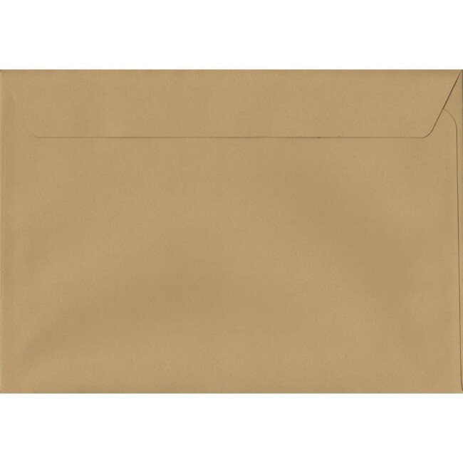 50 A4 Beige Envelopes. Biscuit Beige. 229mm x 324mm. 120gsm paper. Peel/Seal Flap.