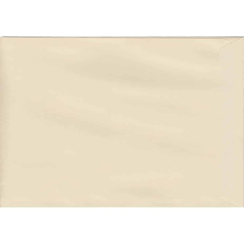 50 A4 Cream Envelopes. Clotted Cream. 229mm x 324mm. 120gsm paper. Peel/Seal Flap.