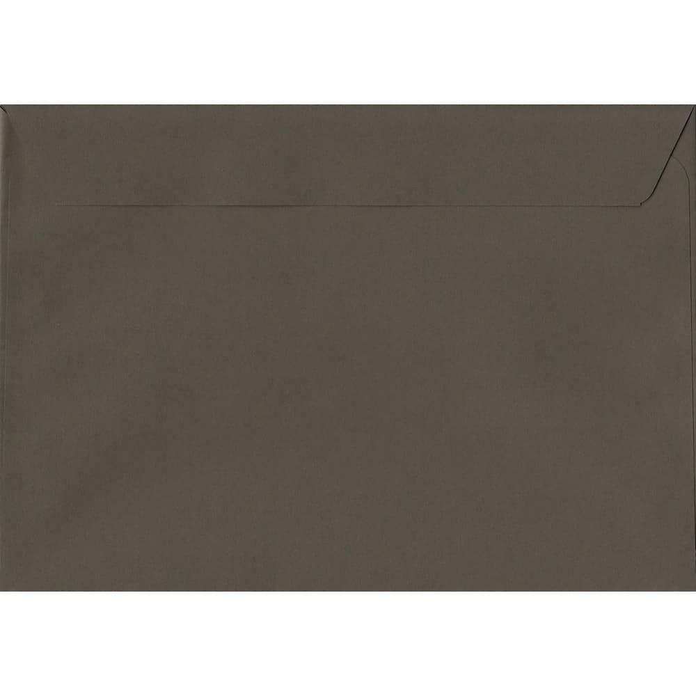 50 A4 Grey Envelopes. Graphite Grey. 229mm x 324mm. 120gsm paper. Peel/Seal Flap.