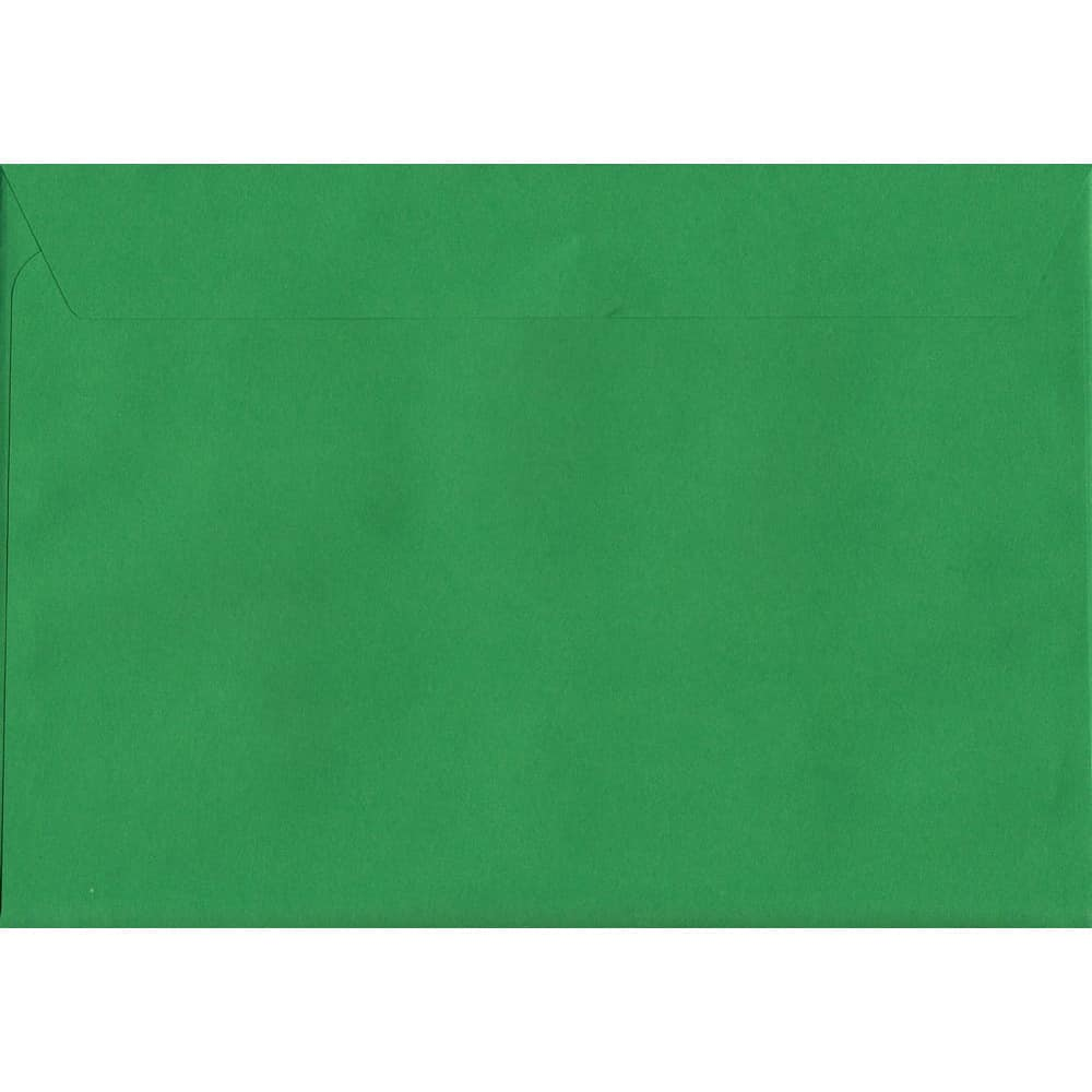 50 A4 Green Envelopes. Holly Green. 229mm x 324mm. 120gsm paper. Peel/Seal Flap.
