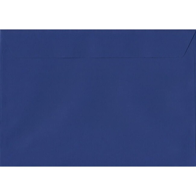 50 A4 Blue Envelopes. Victory Blue. 229mm x 324mm. 120gsm paper. Peel/Seal Flap.