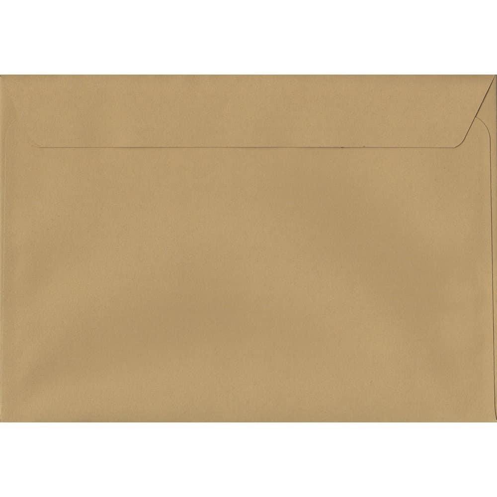 100 A5 Beige Envelopes. Biscuit Beige. 162mm x 229mm. 120gsm paper. Peel/Seal Flap.