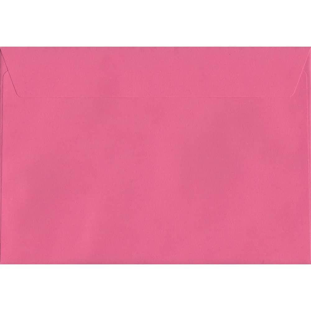 100 A5 Pink Envelopes. Cerise Pink. 162mm x 229mm. 120gsm paper. Peel/Seal Flap.