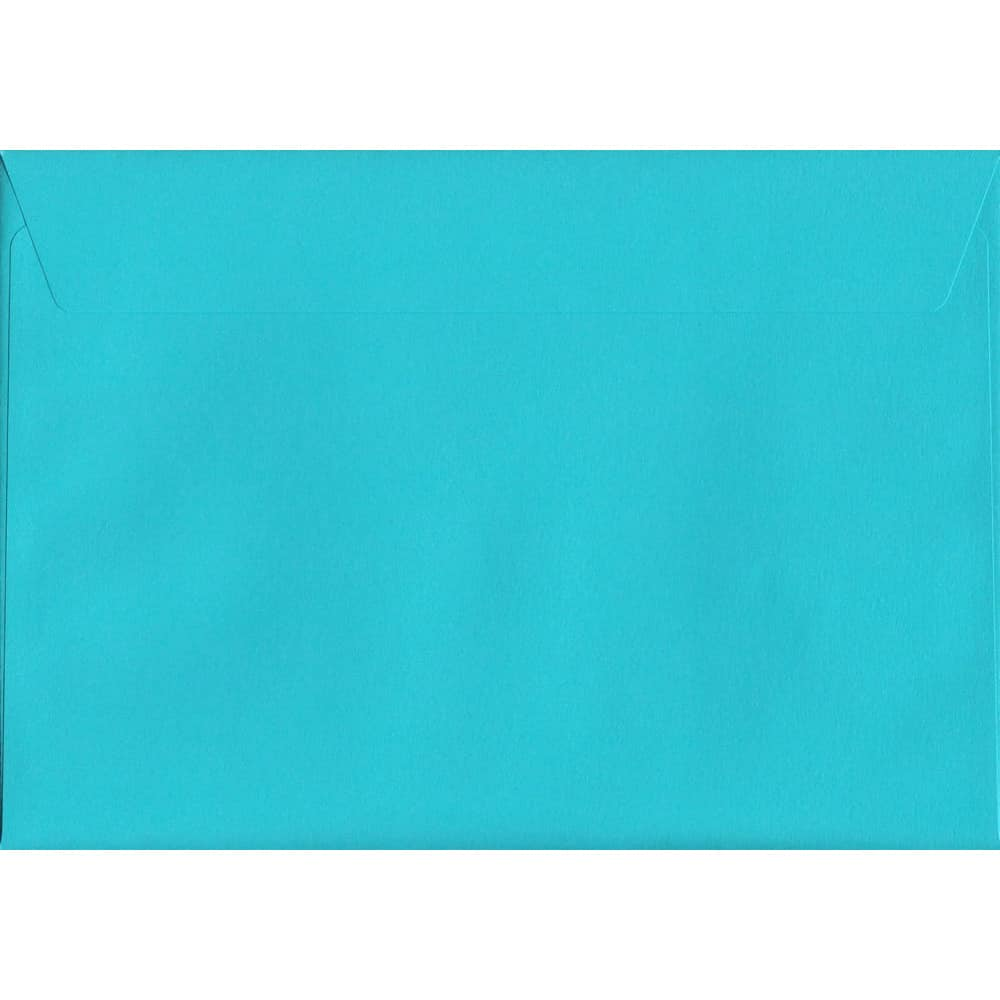 100 A5 Blue Envelopes. Pacific Blue. 162mm x 229mm. 120gsm paper. Peel/Seal Flap.