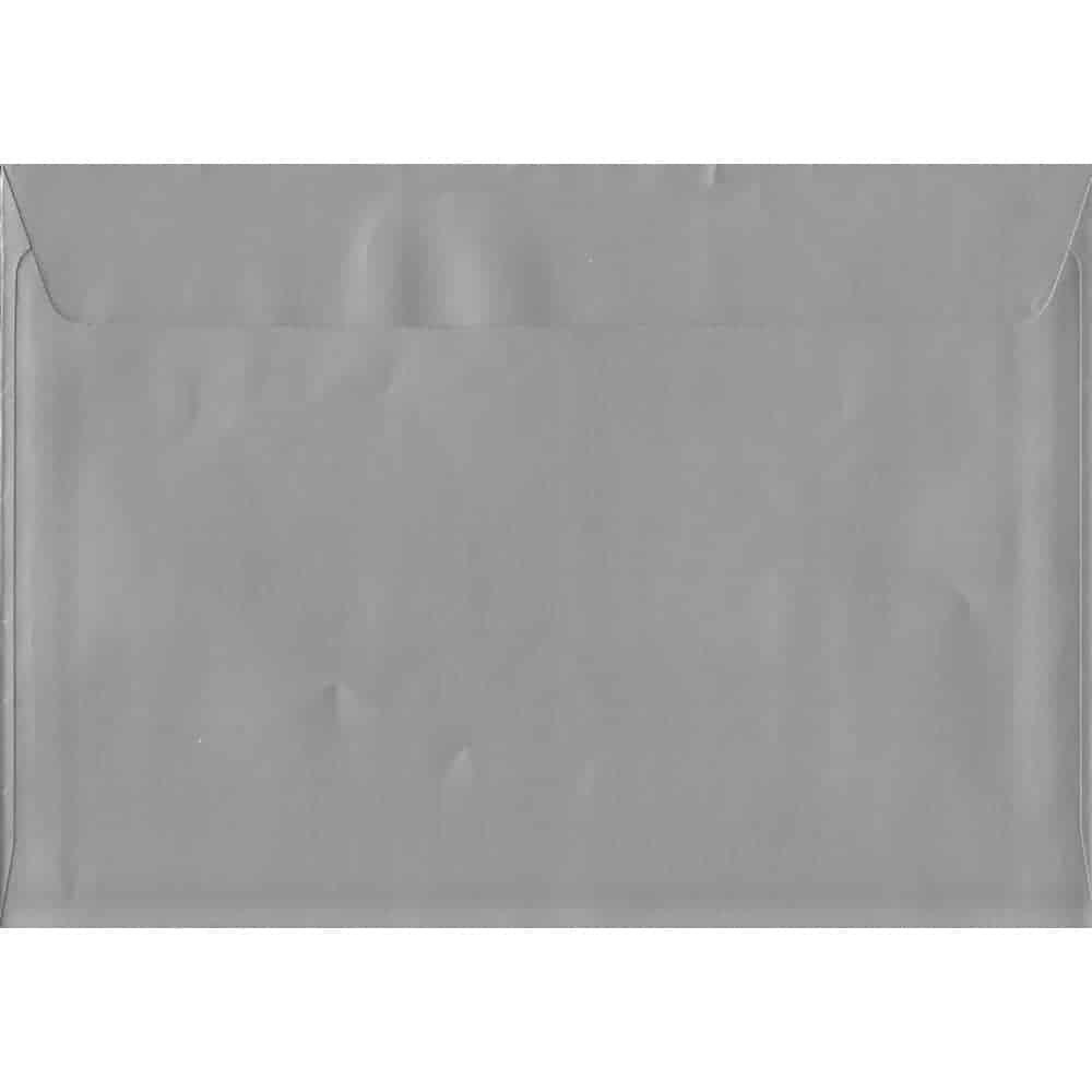 100 A5 Silver Envelopes. Metallic Silver. 162mm x 229mm. 120gsm paper. Peel/Seal Flap.