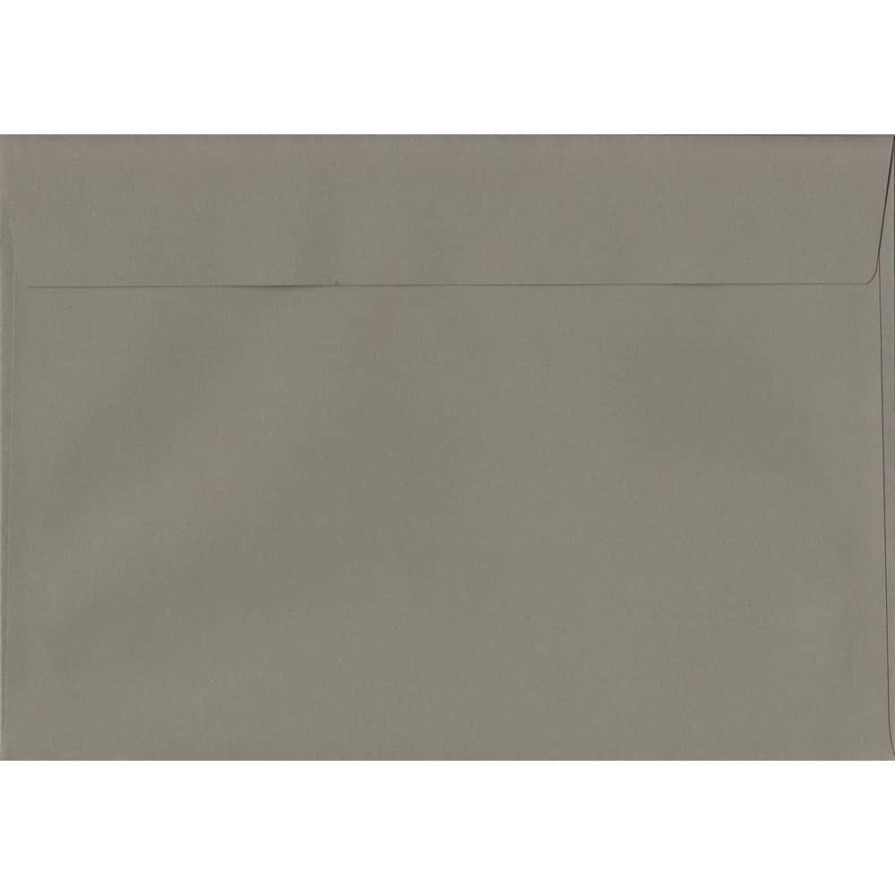 100 A5 Grey Envelopes. Storm Grey. 162mm x 229mm. 120gsm paper. Peel/Seal Flap.