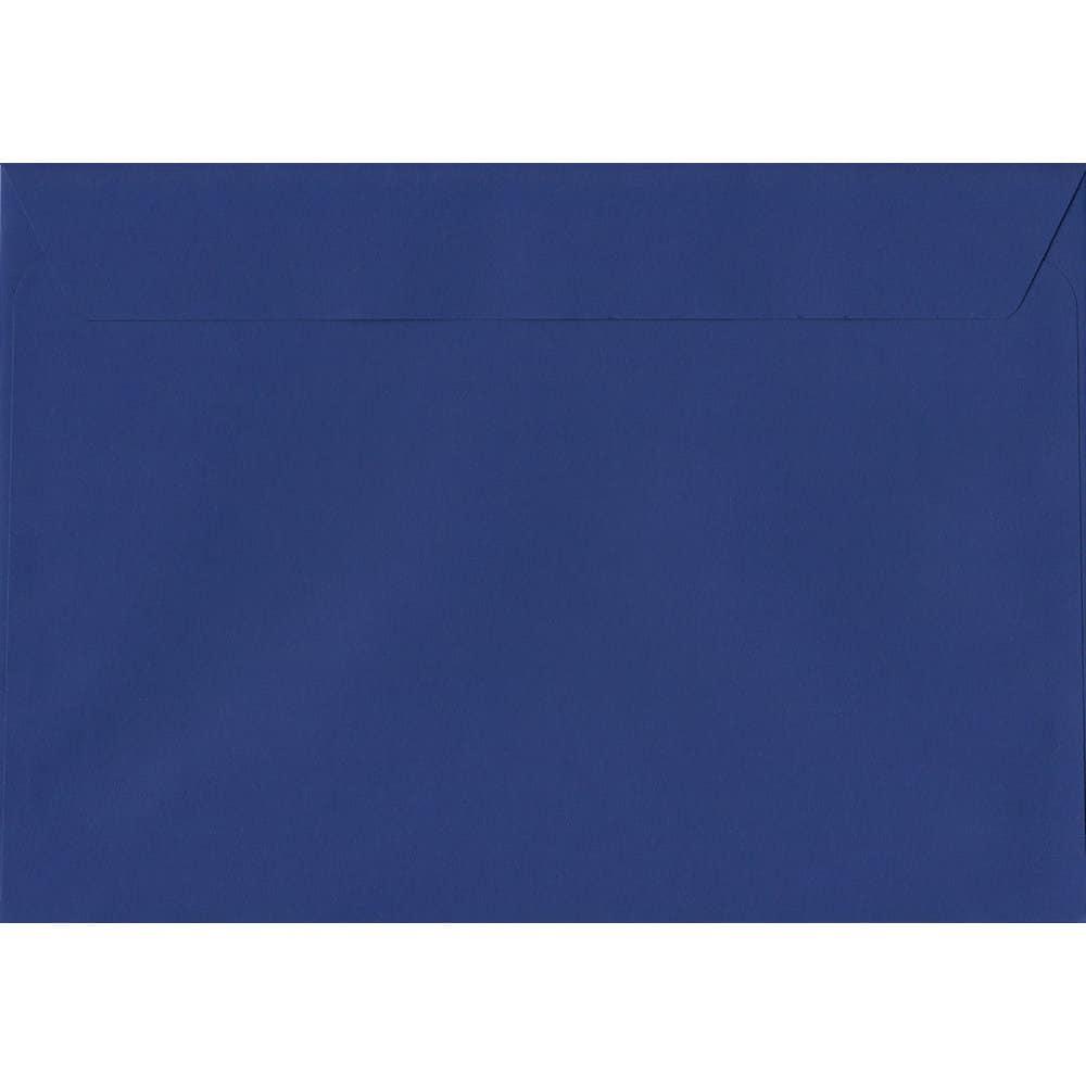 100 A5 Blue Envelopes. Victory Blue. 162mm x 229mm. 120gsm paper. Peel/Seal Flap.