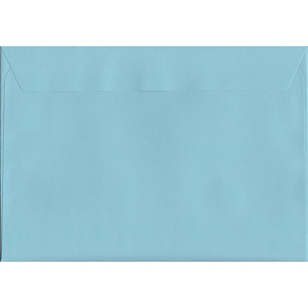 100 A5 Blue Envelopes. Cotton Blue. 162mm x 229mm. 120gsm paper. Peel/Seal Flap.