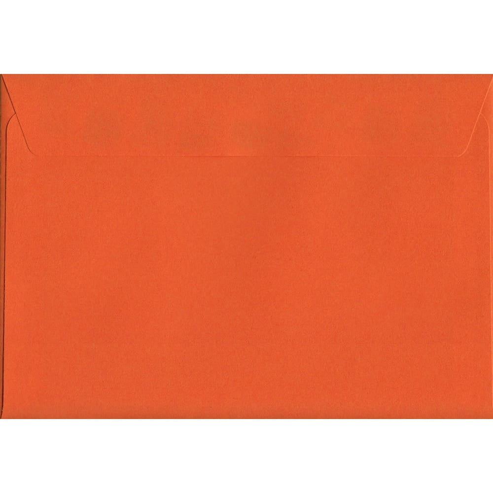 100 A6 Orange Envelopes. Sunset Orange. 114mm x 162mm. 120gsm paper. Peel/Seal Flap.
