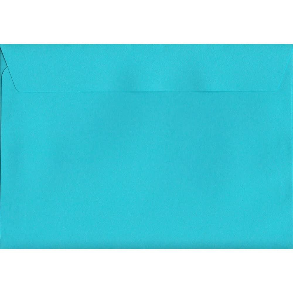 100 A6 Blue Envelopes. Pacific Blue. 114mm x 162mm. 120gsm paper. Peel/Seal Flap.