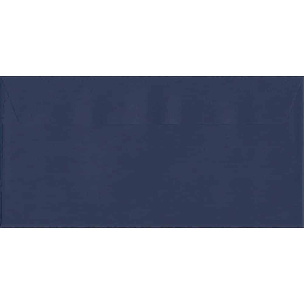 100 DL Blue Envelopes. Oxford Blue. 110mm x 220mm. 120gsm paper. Peel/Seal Flap.