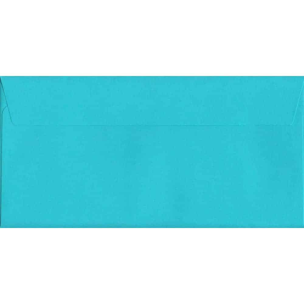 100 DL Blue Envelopes. Pacific Blue. 114mm x 229mm. 120gsm paper. Peel/Seal Flap.