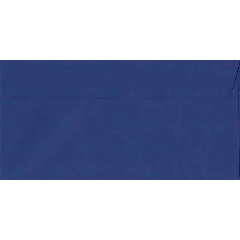 100 DL Blue Envelopes. Victory Blue. 110mm x 220mm. 120gsm paper. Peel/Seal Flap.