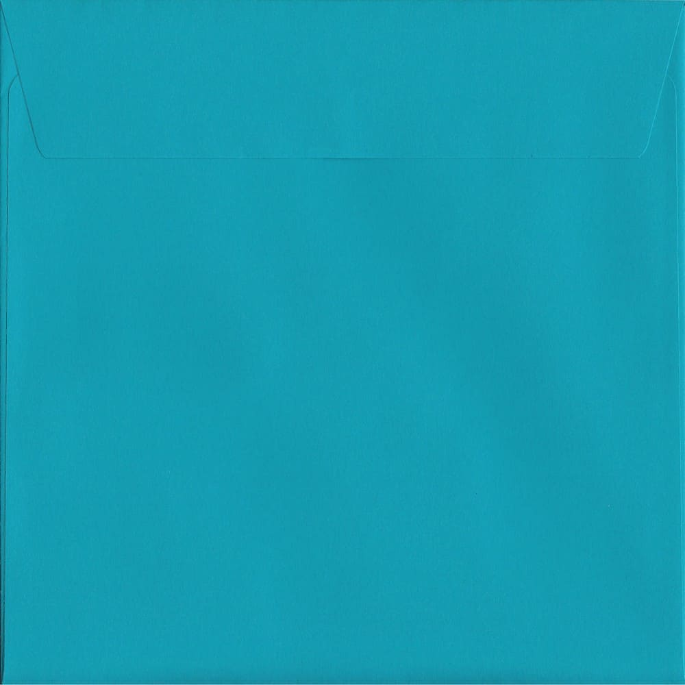 50 Large Square Blue Envelopes. Deep Blue. 220mm x 220mm. 120gsm paper. Peel/Seal Flap.