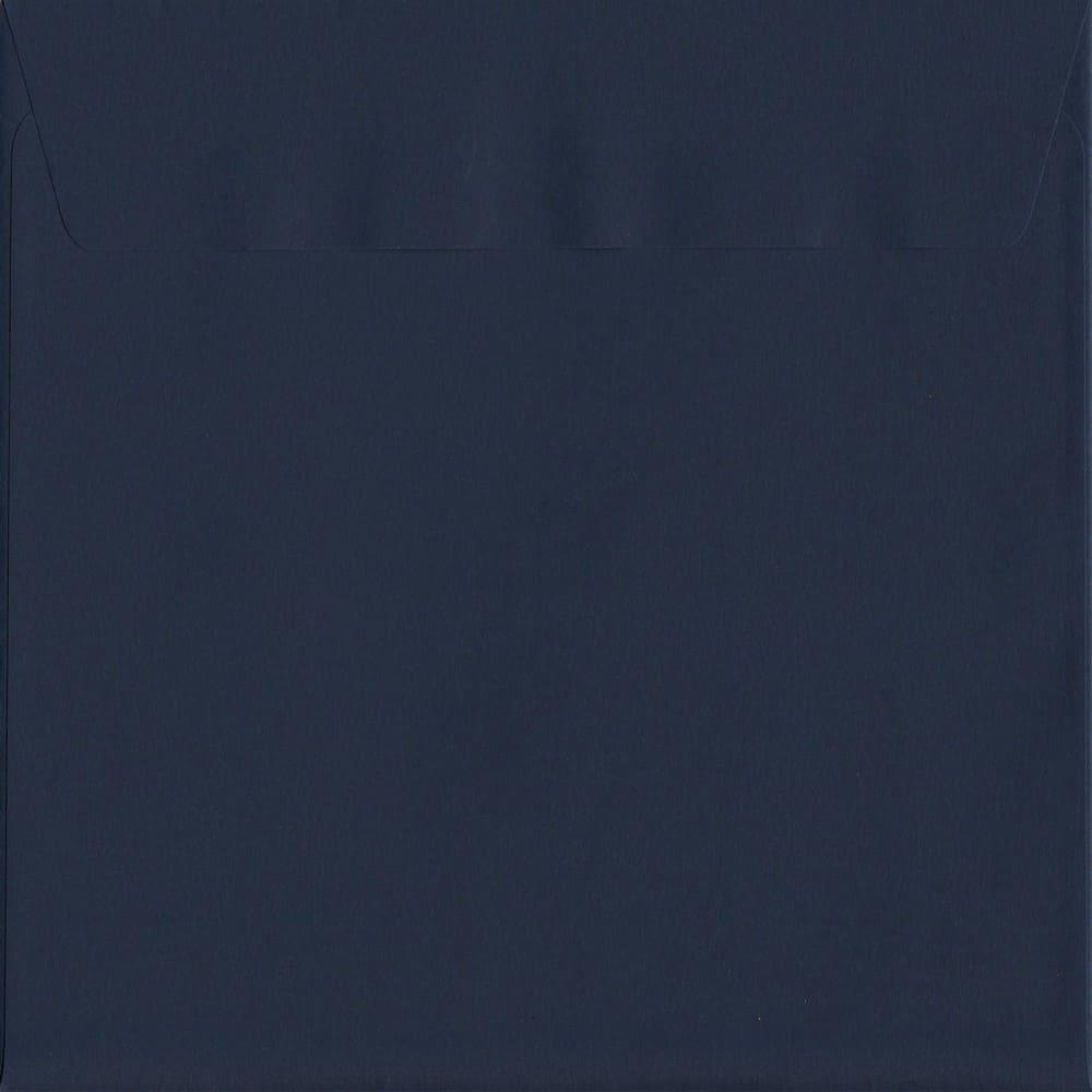 50 Large Square Blue Envelopes. Oxford Blue. 220mm x 220mm. 120gsm paper. Peel/Seal Flap.