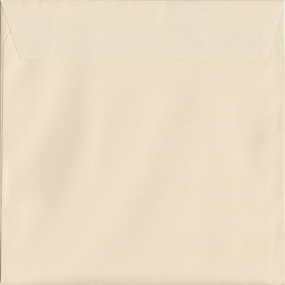 100 Square Cream Envelopes. Clotted Cream. 160mm x 160mm. 120gsm paper. Peel/Seal Flap.