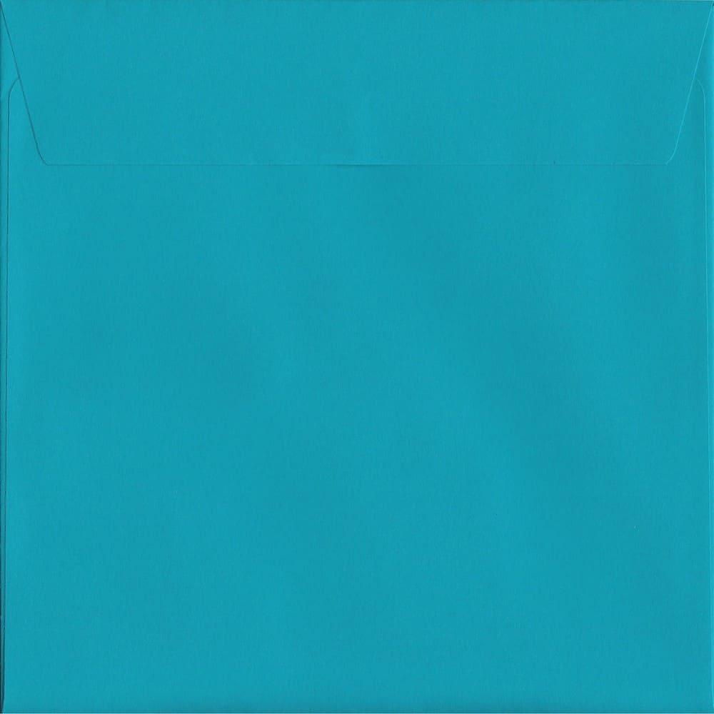 100 Square Blue Envelopes. Deep Blue. 160mm x 160mm. 120gsm paper. Peel/Seal Flap.