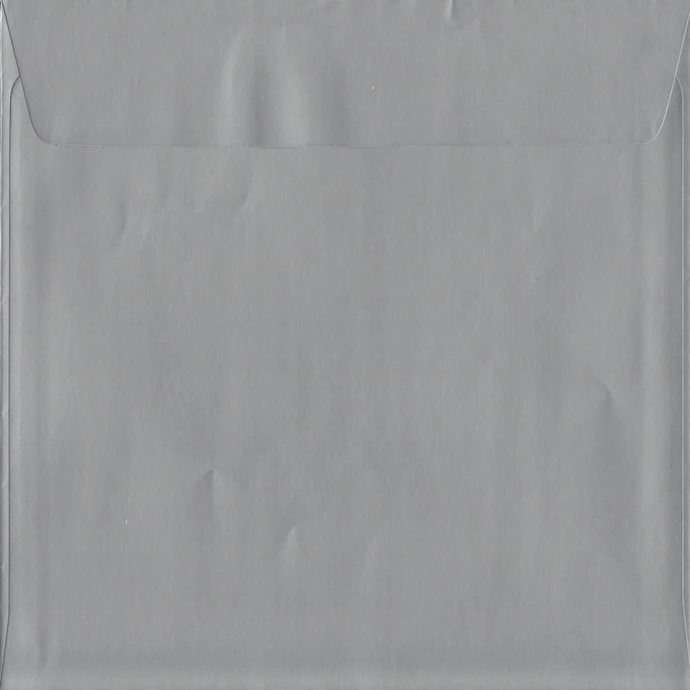 100 Square Silver Envelopes. Metallic Silver. 160mm x 160mm. 120gsm paper. Peel/Seal Flap.