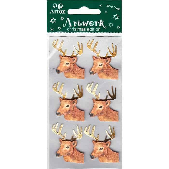 Christmas Reindeer Craft Embellishment By Artoz