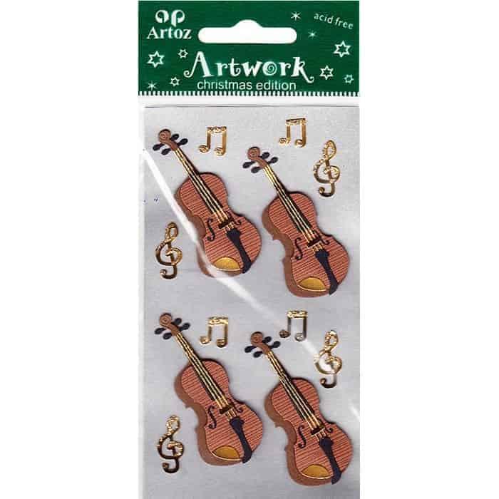 Musical Violins Craft Embellishment By Artoz