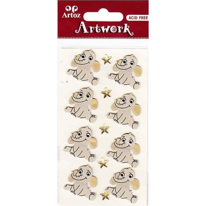 Cartoon Elephants Craft Embellishment By Artoz