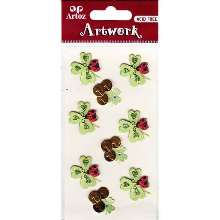 Four Leaf Clover Ladybird Craft Embellishment By Artoz