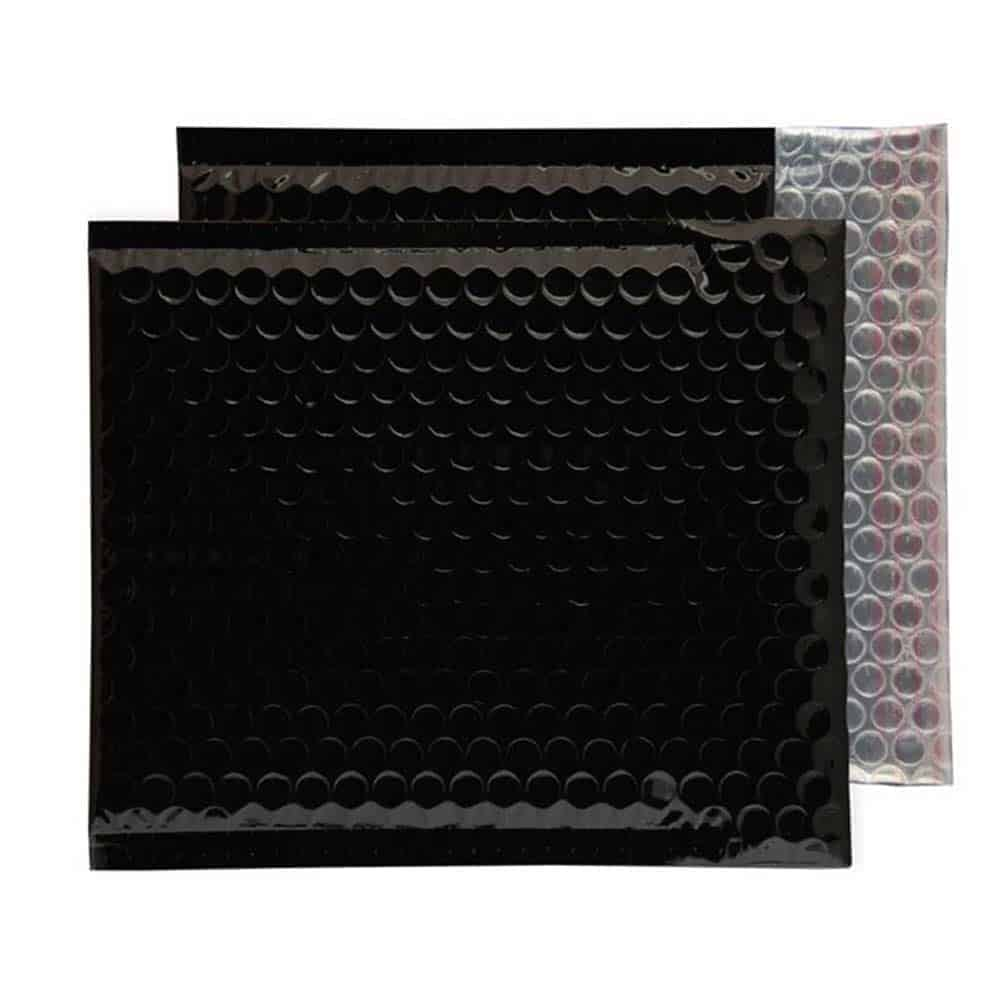 Oil Black Gloss 165mm x 165mm Bubble Lined Envelopes (Box Of 100)