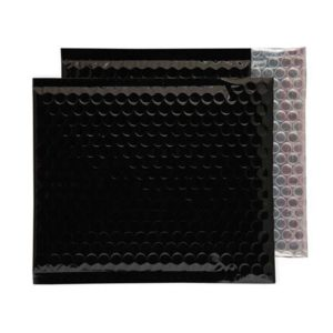 Oil Black Gloss 230mm x 230mm Bubble Lined Envelopes (Box Of 100)