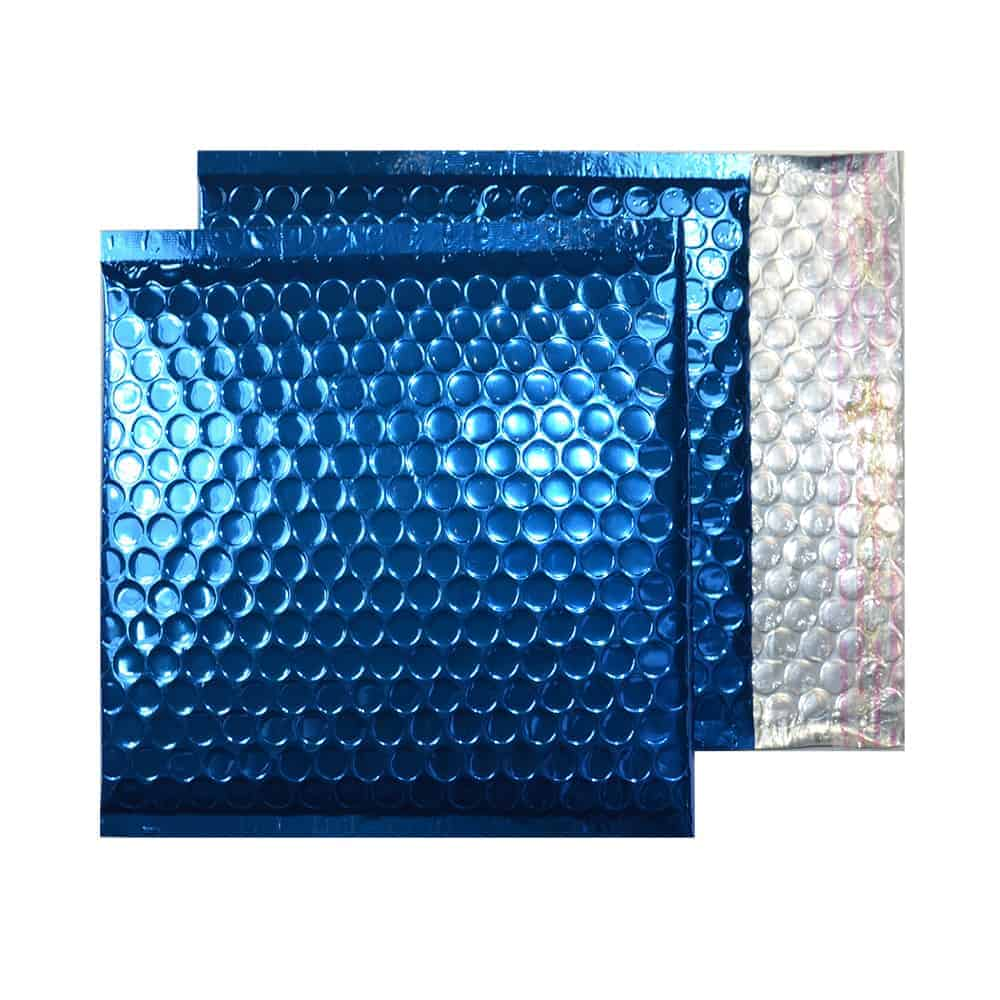 Peacock Blue Gloss 165mm x 165mm Bubble Lined Envelopes (Box Of 100)