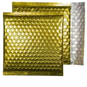 Glamour Gold Gloss 165mm x 165mm Bubble Lined Envelopes (Box Of 100)