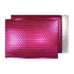 Party Pink Gloss 250mm x 180mm Bubble Lined Envelopes (Box Of 100)