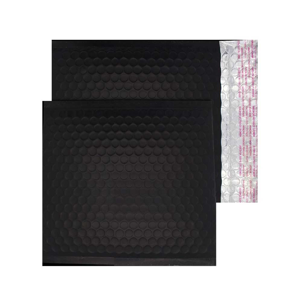 Charcoal Black Matt 165mm x 165mm Bubble Lined Envelopes (Box Of 100)