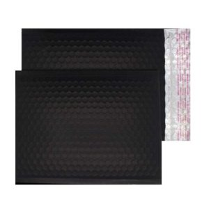 Charcoal Black Matt 250mm x 180mm Bubble Lined Envelopes (Box Of 100)