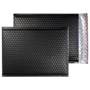 Charcoal Black Matt 324mm x 230mm Bubble Lined Envelopes (Box Of 100)