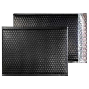 Charcoal Black Matt 450mm x 324mm Bubble Lined Envelopes (Box Of 50)