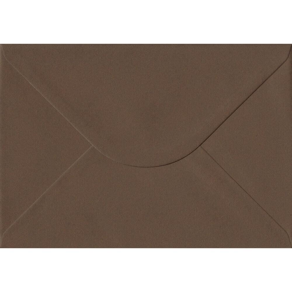 100 A5 Brown Envelopes. Chocolate Brown. 162mm x 229mm. 100gsm paper. Gummed Flap.